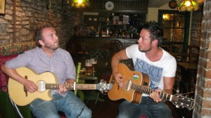 Tippers and me 'performing'...